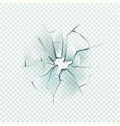 broken glass realistic cracked effect vector image