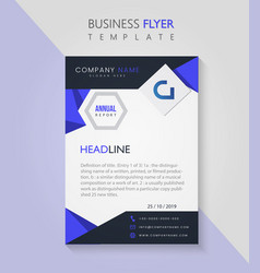 Business pamphlet flyer corporate template vector