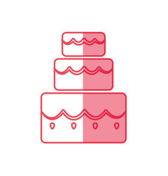 cake three floors vector image