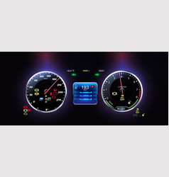 car dashboard modern automobile control vector image
