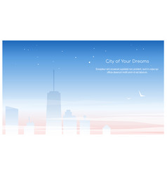 city buildings linear icons set skyscrapers vector image