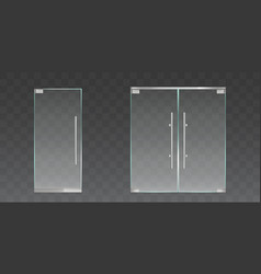 clear glass doors for office or shop vector image