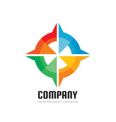 company - concept business logo template vector image