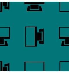 Computer web icon flat design Seamless gray vector image