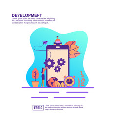 concept development modern conceptual for vector image
