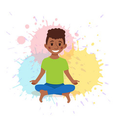 cute cartoon gymnastics for children and healthy vector image