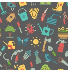 dark pattern of garden accessories vector image