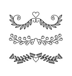Delicate hand drawn banner vector