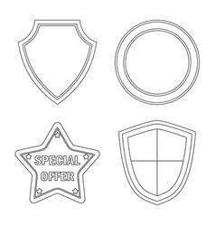 design emblem and badge sign set vector image