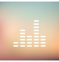 Digital equalizer thin line icon vector image