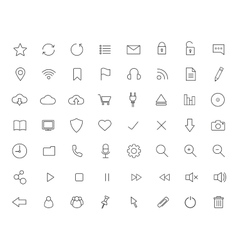 Digital linear icons set vector image vector image