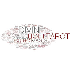 Divine word cloud concept vector