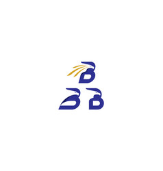 eagle initial b logo icon vector image