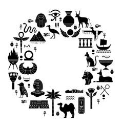 Egyptian ancient symbols mythology egypt sacred vector