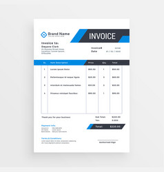 Elegant invoice template design for your business vector