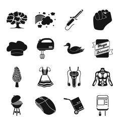 Equipment medicine hairdresser and other web vector