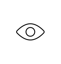 eye icon on white background vector image