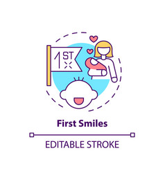 First smiles concept icon vector