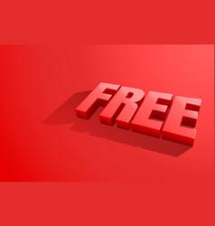 free banner element market offer present vector image