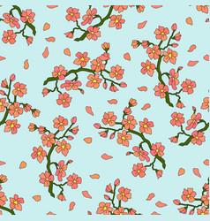 Gentle branch cherry blossoms vector