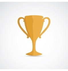 Golden champion cup vector image