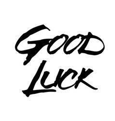 Good luck stamp typographic stamp vector