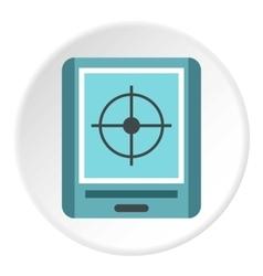 GPS navigator icon flat style vector image