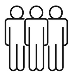 group affection icon outline style vector image