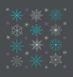 Hand drawn snowflakes doodle snowflakes unique vector