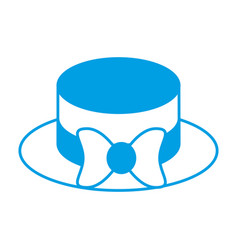 Hat with decorative bow icon vector