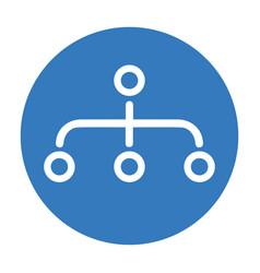 Hierarchy site map icon blue color vector