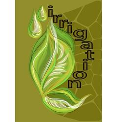 irrigation vector image