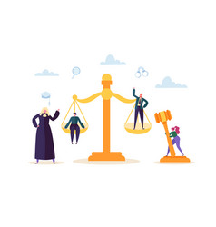 law and justice concept with characters judical vector image