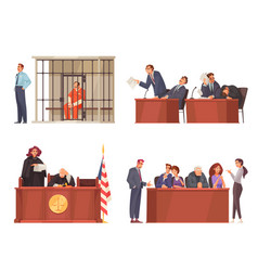 Law justice compositions set vector