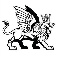 Lion wing icon logo vector