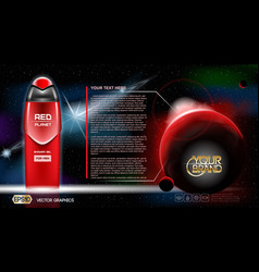 Men space gel or lotion cosmetic ads template vector