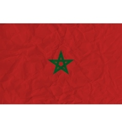 Morocco paper flag vector image