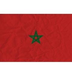 Morocco paper flag vector