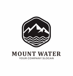 mount logo design abstract mountain logo vector image