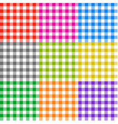 Picnic tablecloth checkered seamless vector