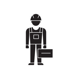 plumbing service black concept icon vector image