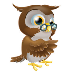 pointing cute owl vector image