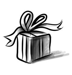 Present box cartoon doodle sketch vector image