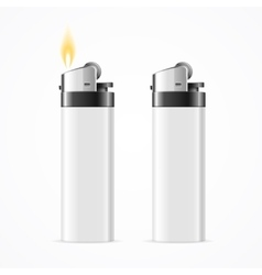 Realistic Template Blank White Lighter vector image