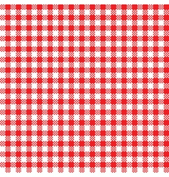 Red-white tablecloth pattern vector