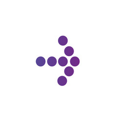right purple gradient dotted arrow icon continue vector image
