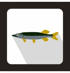 Saury icon in flat style vector