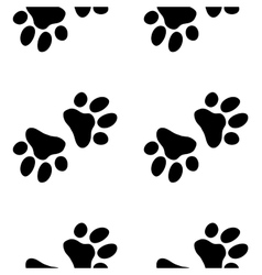 Seamless paw zoo pattern for pet vector image