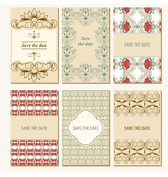 Set of card templates vector image vector image