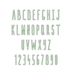Set of letters and numbers handmade Sketch font vector image